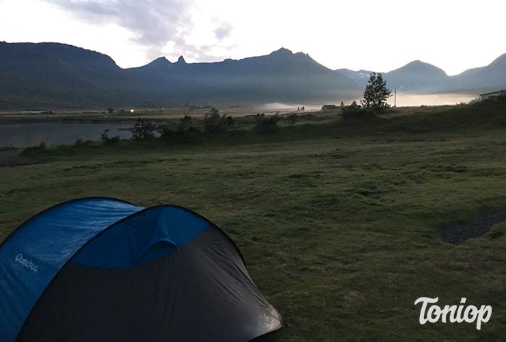 camping, Fáskrúðsfjörður, fjords, Est, Islande