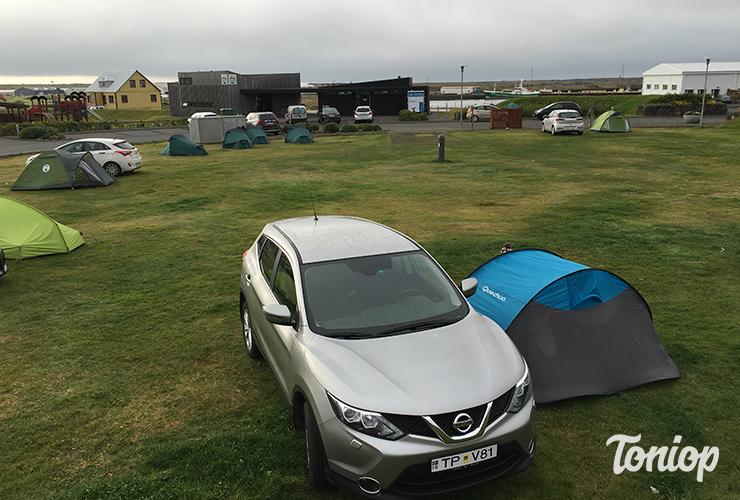 Camping Grindavik, Islande