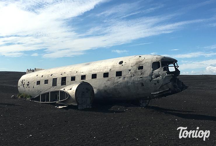 lieux insolites, avion abandonné, Islande, plage, Sólheimasandur, DC3 plane, avion crashé Islande