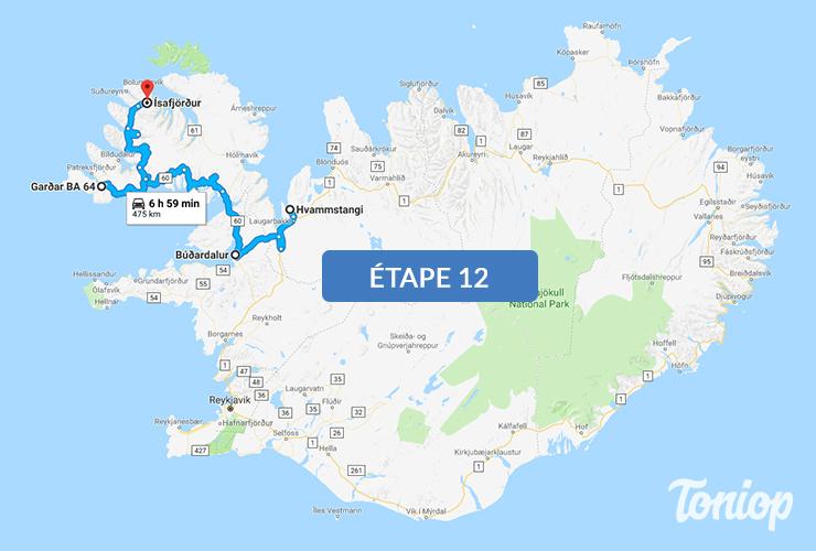 etape 12, roadtrip islande,Visites Fjord, Vestfirðir, Fjallfoss, Ísafjörður