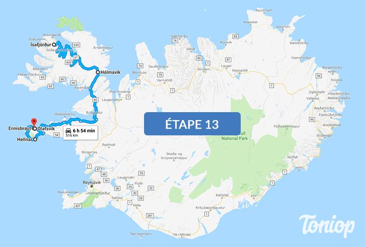 etape 13, roadtrip islande, Visites Fjord, Westfjords, Hólmavík, Péninsule Snæfellsnes