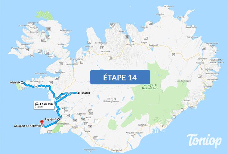 etape 14, roadtrip islande, sud, péninsule Snæfellsnes, Hraunfossar, Reykjavik