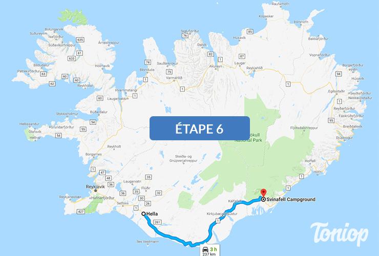etape 6, roadtrip islande, seljalandsfoss, skogafoss,vik,svinafell