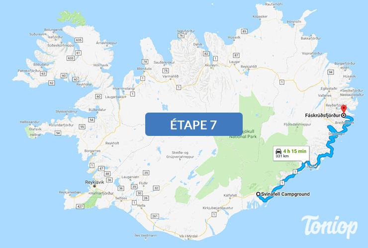 etape 7, roadtrip islande,Svartifoss,Jokulsarlon,Höfn,Stokksnes