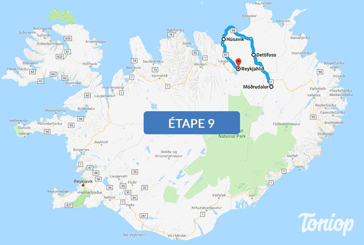 etape 9, roadtrip islande,Dettifoss,husavik,baleines,myvatn