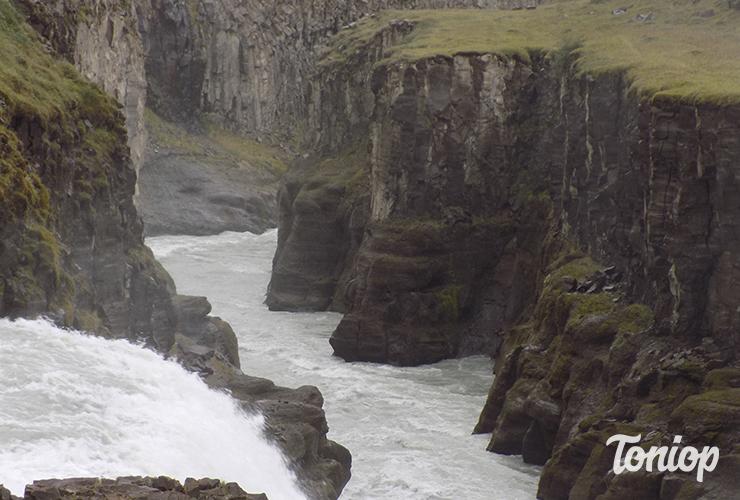 gorges,gullfoss,cascade,islande