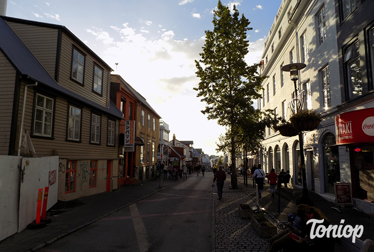 rue commercante, rue principale, reykjavik