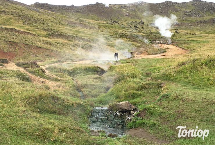 sources chaudes,Reykjadalur,Hot Spring,Trailhead,islande