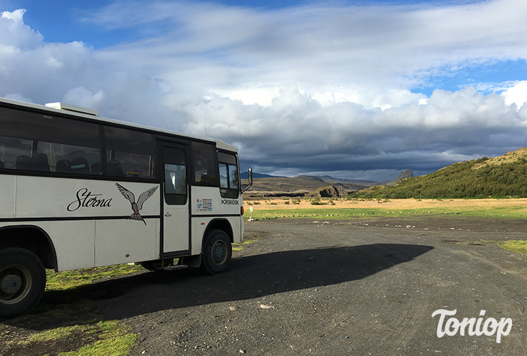 sterna bus, iceland by bus, throsmork